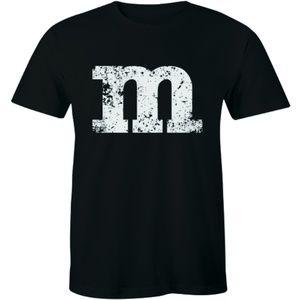 M - Distressed Men's Premium T-shirt Gift Tee
